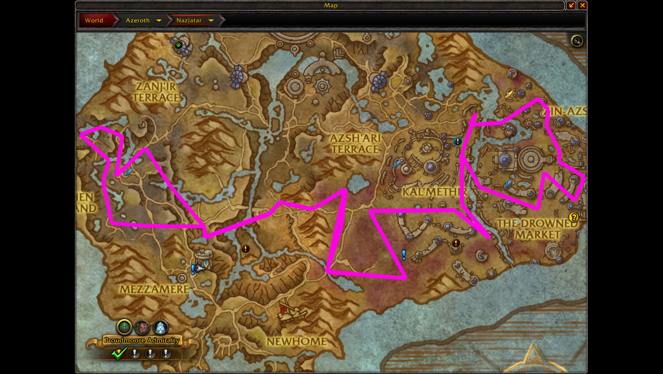 Nazjatar Manapearl Route (Use At Last Resort) – Golden Routes